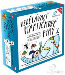 PYGMALINO Vzdělávací kartičkové hry 2 4v1 v krabici *SPOLEČENSKÉ HRY* - zvětšit obrázek