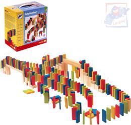 WOODY DŘEVO Hra domino barevné Rally set 200 dílků *DŘEVĚNÉ HRAČKY* - zvětšit obrázek