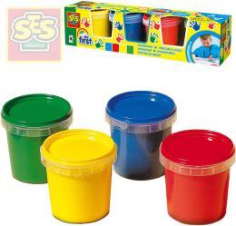 SES CREATIVE Baby moje první barvy prstové set 4 tuby 150ml smývatelné - zvětšit obrázek