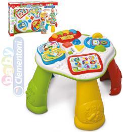 CLEMENTONI Baby stoleček interaktivní vzdělávací s tabletem na baterie plast - zvětšit obrázek