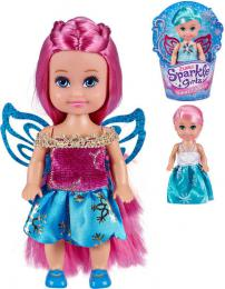 Sparkle Girlz 12cm panenka zimní princezna s křídly 4 druhy v kornoutku - zvětšit obrázek