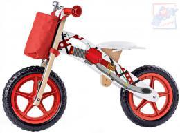 WOODY DŘEVO Odrážedlo motorka červené odstrkovadlo *DŘEVĚNÉ HRAČKY* - zvětšit obrázek