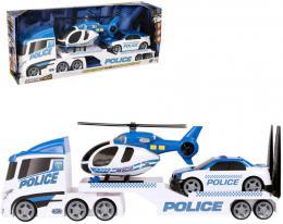 Teamsterz policejní tahač set s autem a vrtulníkem na baterie plast Světlo Zvuk - zvětšit obrázek