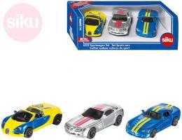 SIKU Super sportovní auto kovové set 3ks v krabici - zvětšit obrázek