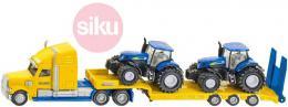 SIKU Tahač kovový s vlekem 1:87 set se 2 traktory New Holland 1805 - zvětšit obrázek