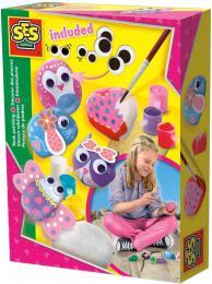 SES CREATIVE Malování kamínků s očima pro dívky kreativní set v krabici - zvětšit obrázek