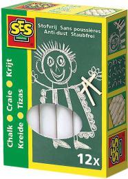 SES CREATIVE Křídy bílé kulaté set 12ks v krabici - zvětšit obrázek