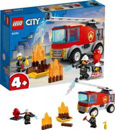 LEGO CITY Hasičské auto s žebříkem 60280 STAVEBNICE - zvětšit obrázek