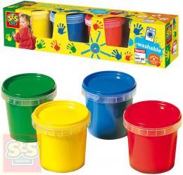 SES CREATIVE Baby barvy prstové set 4x150ml malování prsty - zvětšit obrázek