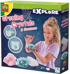 SES CREATIVE Rostoucí krystaly a drahokamy experimentální set v krabici - zvětšit obrázek