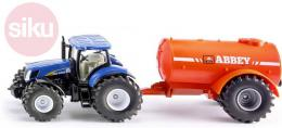 SIKU Traktor modrý set s cisternou 1:50 model kov 1945 - zvětšit obrázek
