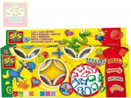 SES CREATIVE Modelína narozeninová extra měkká set 8 kelímků s vykrajovátky - zvětšit obrázek