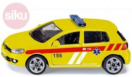 SIKU Auto osobní Volkswagen Golf VI 2.0 TDI Ambulance ČR model kov 1411 - zvětšit obrázek