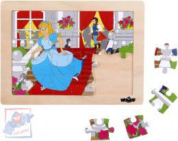 WOODY DŘEVO Puzzle v rámečku Popelka 24 dílků *DŘEVĚNÉ HRAČKY* - zvětšit obrázek