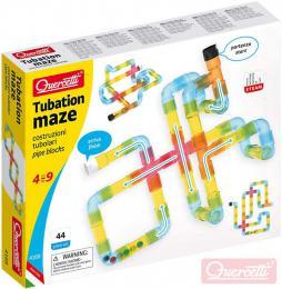 QUERCETTI Tubation Maze 3D potrubí transparentní 44 dílků STAVEBNICE - zvětšit obrázek