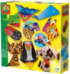 SES CREATIVE Origami skládačka papírová zvířátka kreativní set v krabici - zvětšit obrázek
