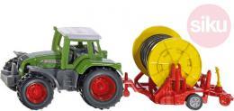 SIKU Traktor zelený set s vlečkou se zavlažovacím kotoučem model kov 1677 - zvětšit obrázek
