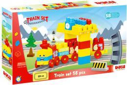 DOLU Baby souprava barevná vlaková 58 dílků vláček s čísly pro miminko - zvětšit obrázek