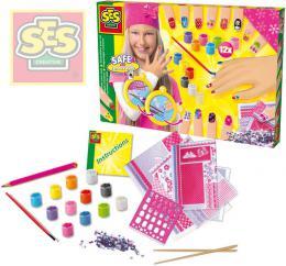 Kreativní holčičí set s laky a kamínky ozdob si své nehty SES 14975 - zvětšit obrázek