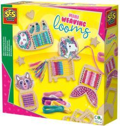 SES CREATIVE DŘEVO Mini tkalcovský stav zvířátka kreativní set v krabici - zvětšit obrázek
