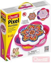 QUERCETTI Mozaika Pixel Mandala daisy set 1200 kloboučků 5mm s předlohami - zvětšit obrázek